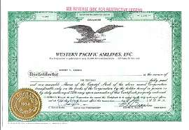 Old Airline Stock Certificates Available for Online Purchase ...