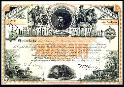 Buffalo Bill's Wild West Company stock certificate
